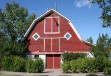 Historic Calgary barn front