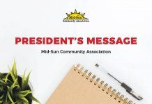 Presidents Message MidSun