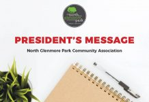 Presidents Message North Glenmore Park