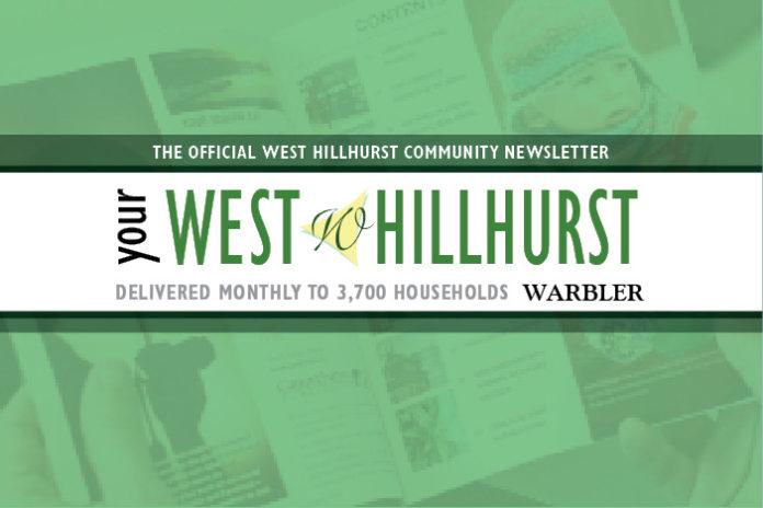 Community Newsletter Westhillhurst