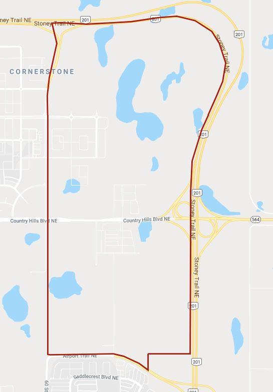 Google Map of Cornerstone, Calgary, AB