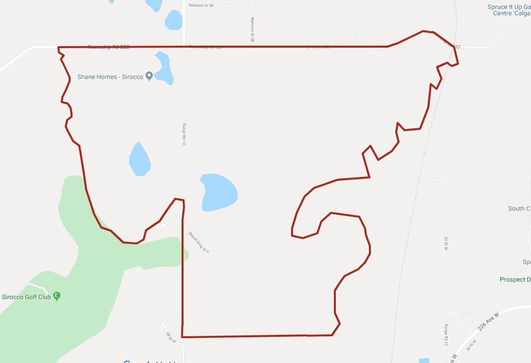 Google Map of Pine Creek, Calgary, AB