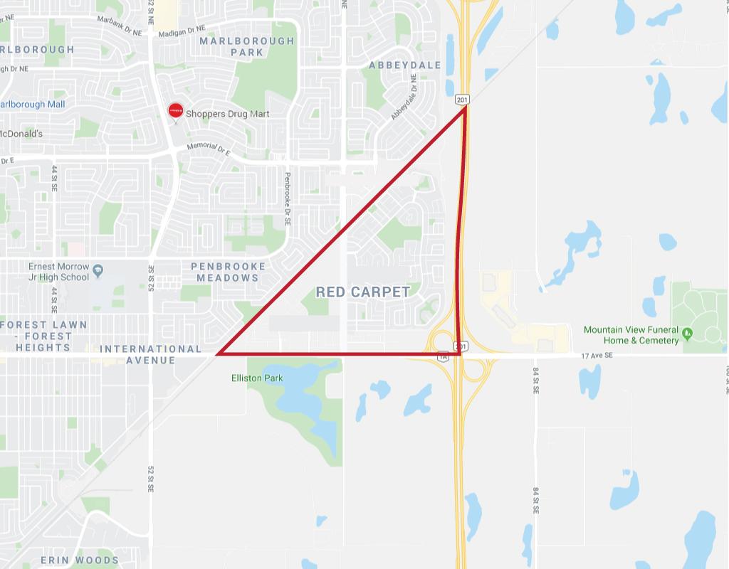 Google Map of Red Carpet, Calgary, AB