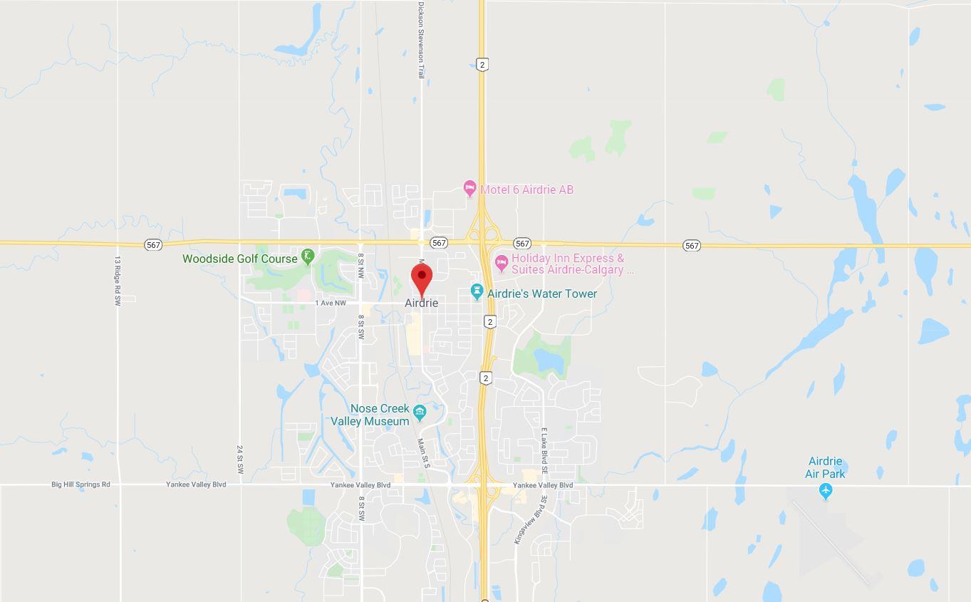 Google Map of Homestead, Calgary, AB