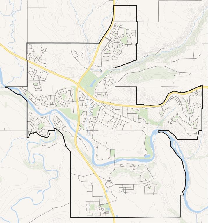Google Map of Cochrane, AB