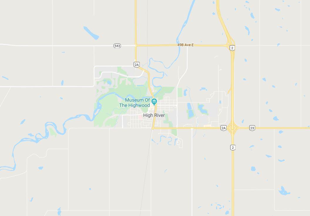 Google Map of High River, Calgary, AB